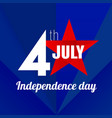 independence day lable vector image vector image