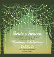 inspiration card for wedding vector image vector image