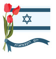 israel independence day yom haatzmaut vector image