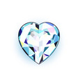 jewel in the shape of heart isolated vector image vector image