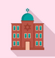 jewish synagogue icon flat style vector image