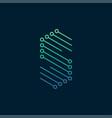 letter s logo vector image vector image