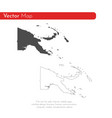 map papua new guinea isolated vector image vector image