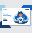 market forecast with crystal ball vector image vector image