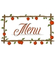 Menu Cover Design vector image
