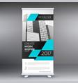 modern blue standee roll up banner design vector image vector image