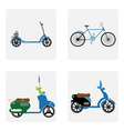 monochrome icon set with motorbike vector image vector image