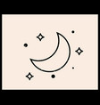 moon linear logo icon for cosmetics beauty tattoo vector image