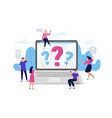 online question answers search question sign on vector image