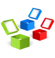 Open color boxes vector image vector image