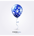 Party flying balloon with cat paws pattern vector image