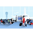 People On Airport Composition vector image