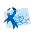 Prostate cancer awareness ribbon vector image