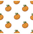 pumpkin harvest halloween symbol seamless pattern vector image