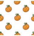 pumpkin harvest halloween symbol seamless pattern vector image vector image