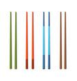 realistic detailed 3d food chopsticks set vector image vector image