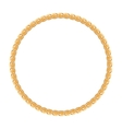 round frame - gold chain on white background vector image vector image