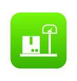 scales for cargo icon digital green vector image vector image