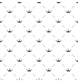 Seamless black pattern with king crowns on vector image vector image