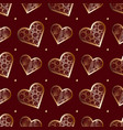seamless pattern abstract lace hearts valentines vector image vector image