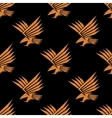 Seamless pattern of a stylized flying eagle vector image vector image