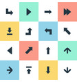 set of 16 simple pointer icons can be found such vector image vector image
