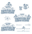 set of greeting inscriptions and design elements vector image vector image