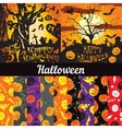set posters seamless pattern for Halloween vector image vector image