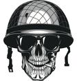 Skull in helmet cheloeka vector image