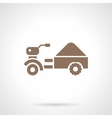 Small farm truck glyph style icon vector image vector image