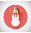 Snowman Character Icon New Year Christmas Symbol vector image