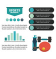 sports infographic design vector image