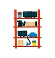 Storehouse Shelf With Objects vector image vector image