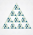 Triangle blue pattern vector image vector image