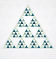 Triangle blue pattern