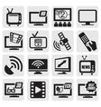 tv technology set vector image vector image