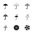 umbrella icon set vector image vector image