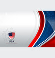 usa background template vector image vector image