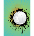 Volleyball Ball on Rays Background2 vector image vector image