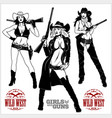 western girls with winchesters vector image