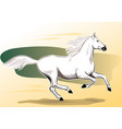 white horse galloping vector image vector image