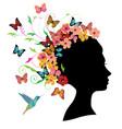 woman head vector image vector image