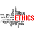 word cloud ethics vector image