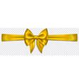 yellow bow with horizontal ribbon vector image