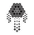 abstract geometric monochrome dream catcher vector image
