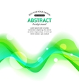 Abstract wavy green background vector image vector image