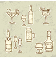 Alkohol drinks set vector | Price: 1 Credit (USD $1)