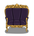 an armchair with a dark blue upholstery and yellow vector image vector image