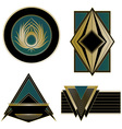 Art Deco logos and design elements vector image vector image