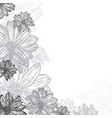 background of flowers vintage vector image vector image